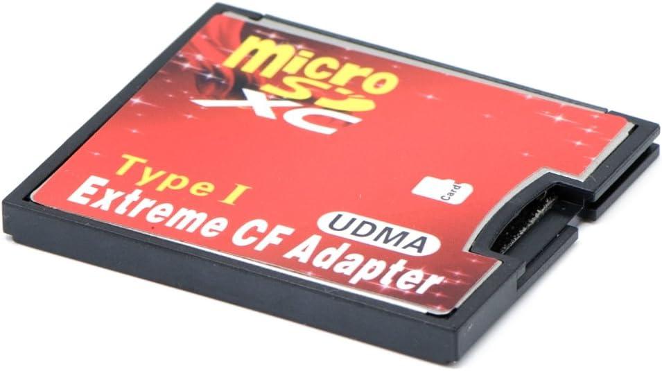 QUMOX microSD to CF Compact Flash Memory Card Adapter Reader Type 1 WiFi