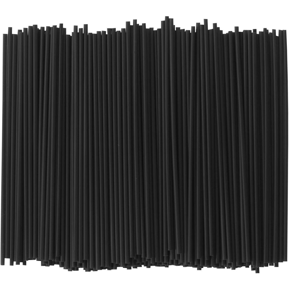 Coffee Stir Sticks, Plastic Stirrers: USA Made, BPA Free: Cocktail Straws, 5.25'' Black, 1000ct by Alexius (Image #2)