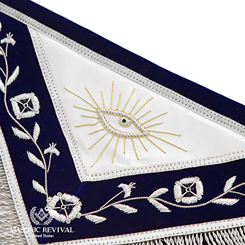 El Mixto Bullion Past Master Apron by Masonic Revival (with Square) by Masonic Revival (Image #2)