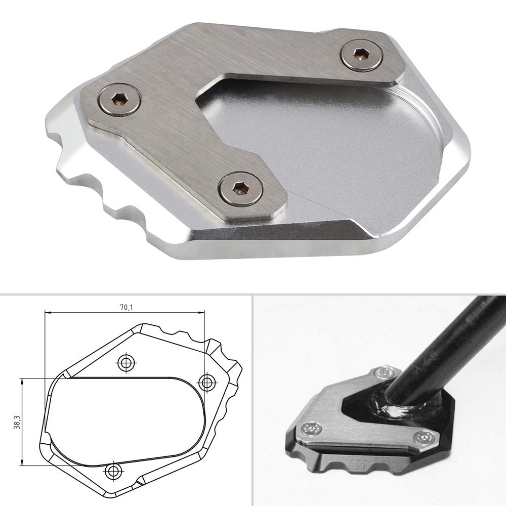 NiceCNC Kickstand Kick Side Stand Extension Plate for BMW R1200GS LC 2013 2014 2015 2016 2017 (Black)