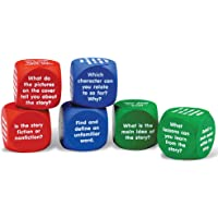 Learning Resources LER7022 Reading Comprehension Cubes,1-5/8 L x 1-5/8 W in,Multi-color