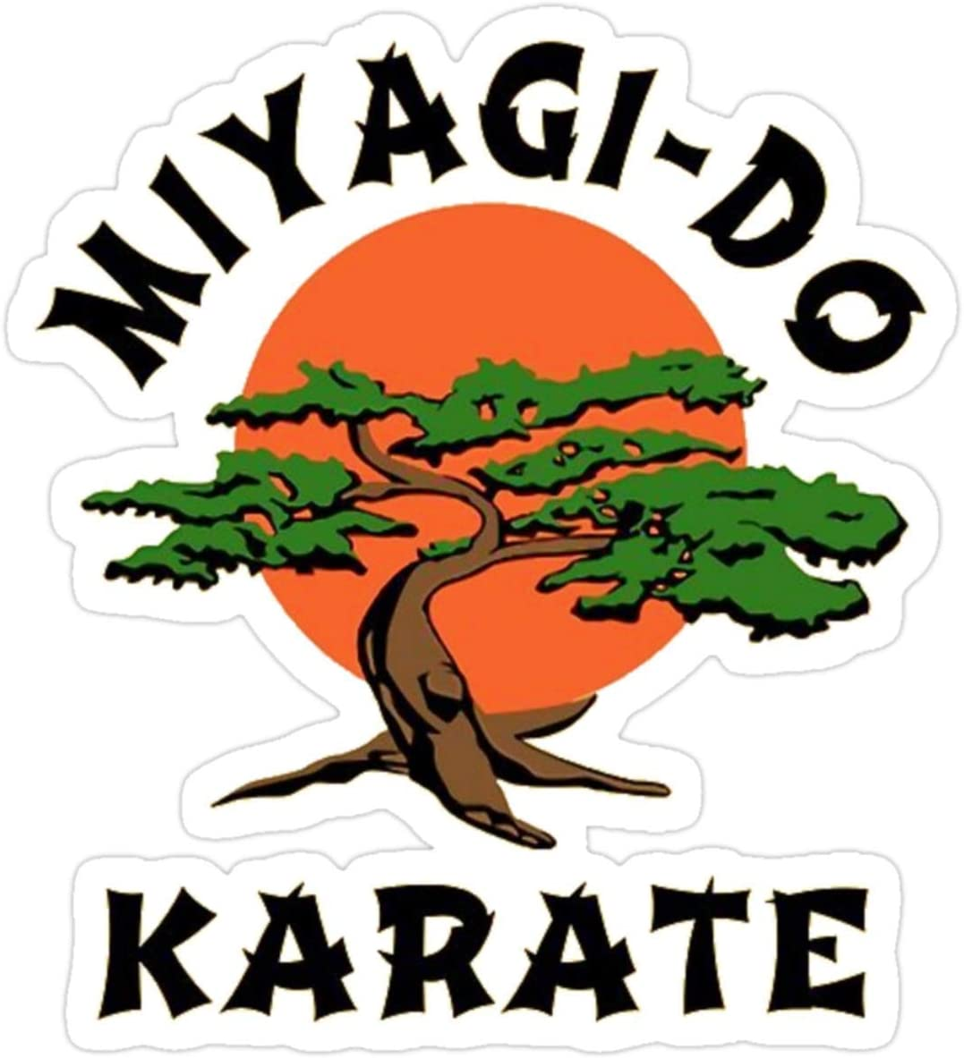 Stickers Miyagi Do Karate Vinyl (3 Pcs/Pack) 3x4 Inch