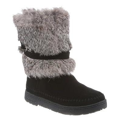 Bearpaw Womens Kara: 10 In. Fur Boot (BlackII, 5)