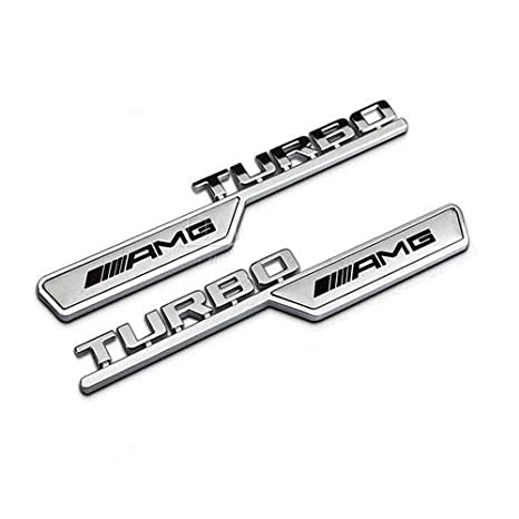 Amg Turbo Emblema 2PCS para Mercedes Benz