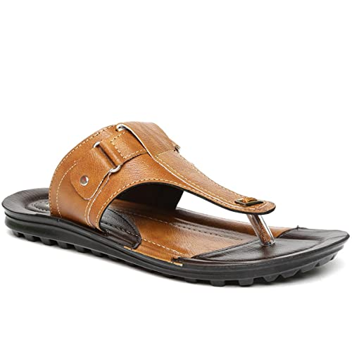 734e6c2c2 PARAGON Vertex Men s Tan   Brown Flip-Flops  Buy Online at Low Prices in  India - Amazon.in