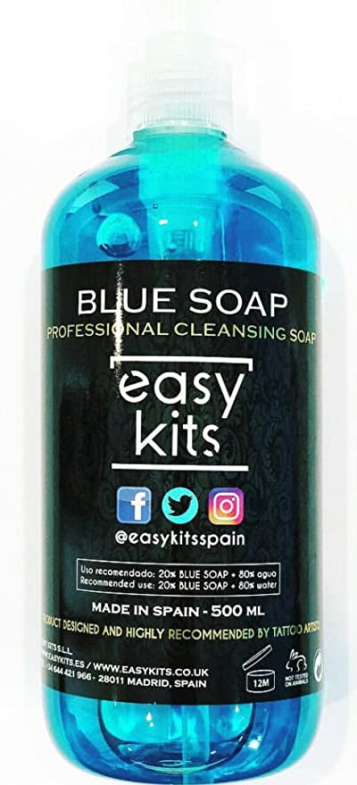 Tattoo Blue Soap 500 ml. - Professional Tattoo Cleansing Soap ...