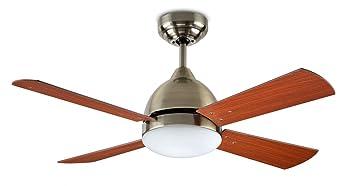Leds C4 Ventilateur De Plafond Lumineux Borneo Patine