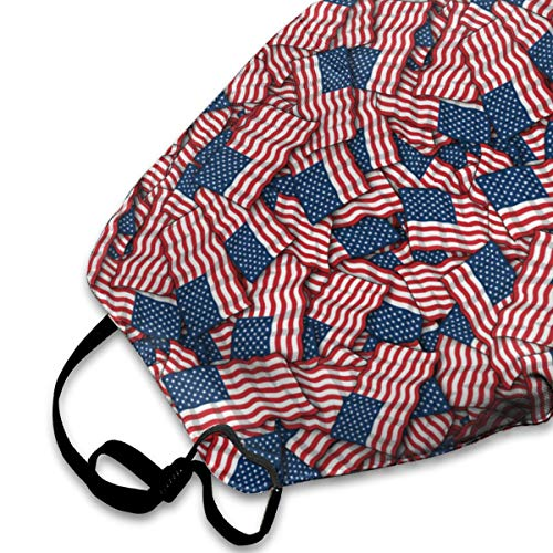 NEWINESS Premium Men Women Breathable Indoor Outdoor Half Face Mask - Adjustable Dustproof Anti Pollution Pollen Safety Medical Mouth Mask Patriotic American Flag USA Lover