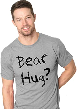 a1b76e135 Mens Grizzly Bear Flip T Shirt Funny Bear Hug Shirt Humorous Novelty Tee  for Men (Grey) L: Amazon.co.uk: Clothing