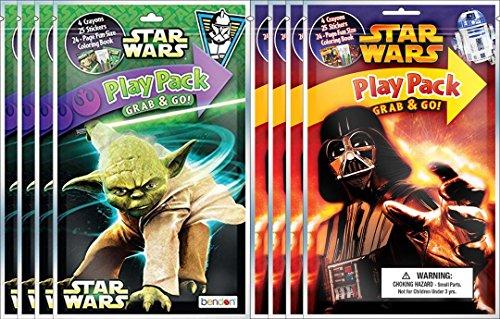 (BashBox Bendon Star Wars Classic Play Pack Grab & Go Children's Coloring & Activity Party Favor Bundle (8)