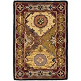 Safavieh Heritage Collection HG512B Handcrafted Traditional Oriental Multi and Red Wool Area Rug (2′ x 3′)