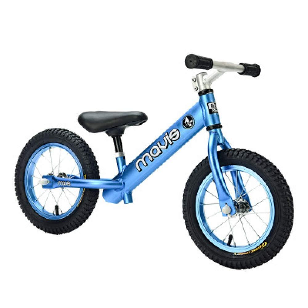 Balance SLFF Kid Bike Kein Pedal Aluminium-Legierung Rahmen Vorne Doppellager Scooter, Für Alter 2-6, Höhe 80-120cm, 5.5Lbs,Blau-12& 039;& 039;