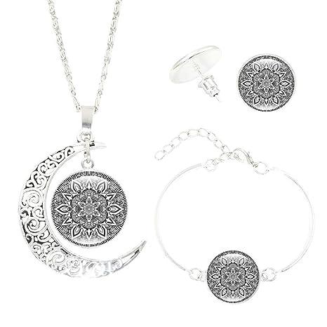 Doitsa Collar Pendientes Pulsera Forma De Luna Conjunto De Joyas