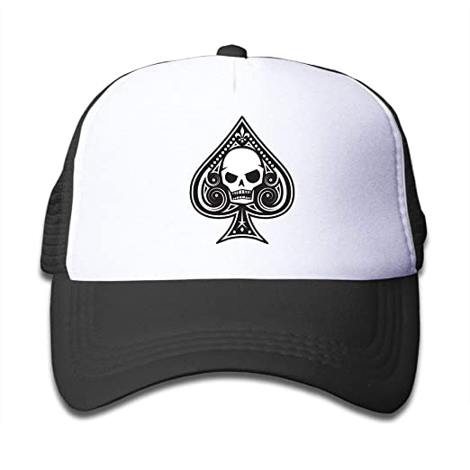 Amazon.com  Ace of Spades Skull Adjustable Snapback Hat Summer Cap ... 717dfb2d9b5