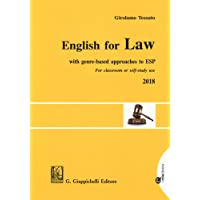 English for law. With genre-based approaches to ESP. For classroom or self-study use 2018