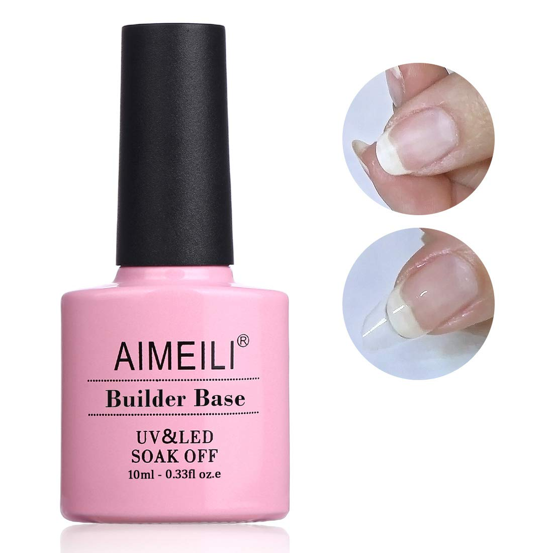 AIMEILI Builder Base Gel Quick Extension Nail Enhancement Reinforce Lacquer Soak Off UV LED Gel Nail Polish : Beauty