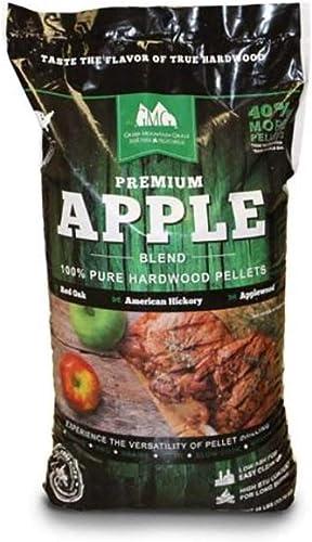 Green-Mountain-Grills-Premium-Apple-100%-Pure-Hardwood-Grilling-Cooking-Pellets