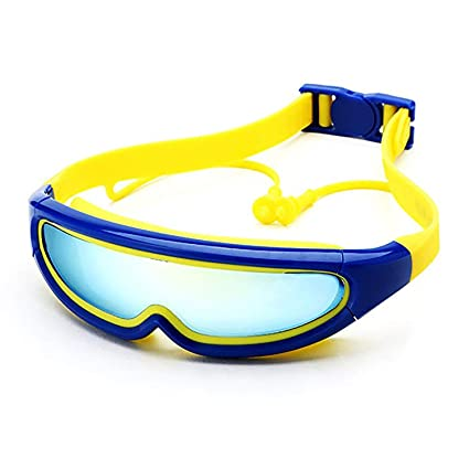 7c6103bdef8ce Kids Swim Goggles( 3-15 years old), Kids fashionable Swim Goggles with Ear  Plugs Attached, Anti-Fog UV Protection, No Leaking swim goggles for  Boys,Girls ...