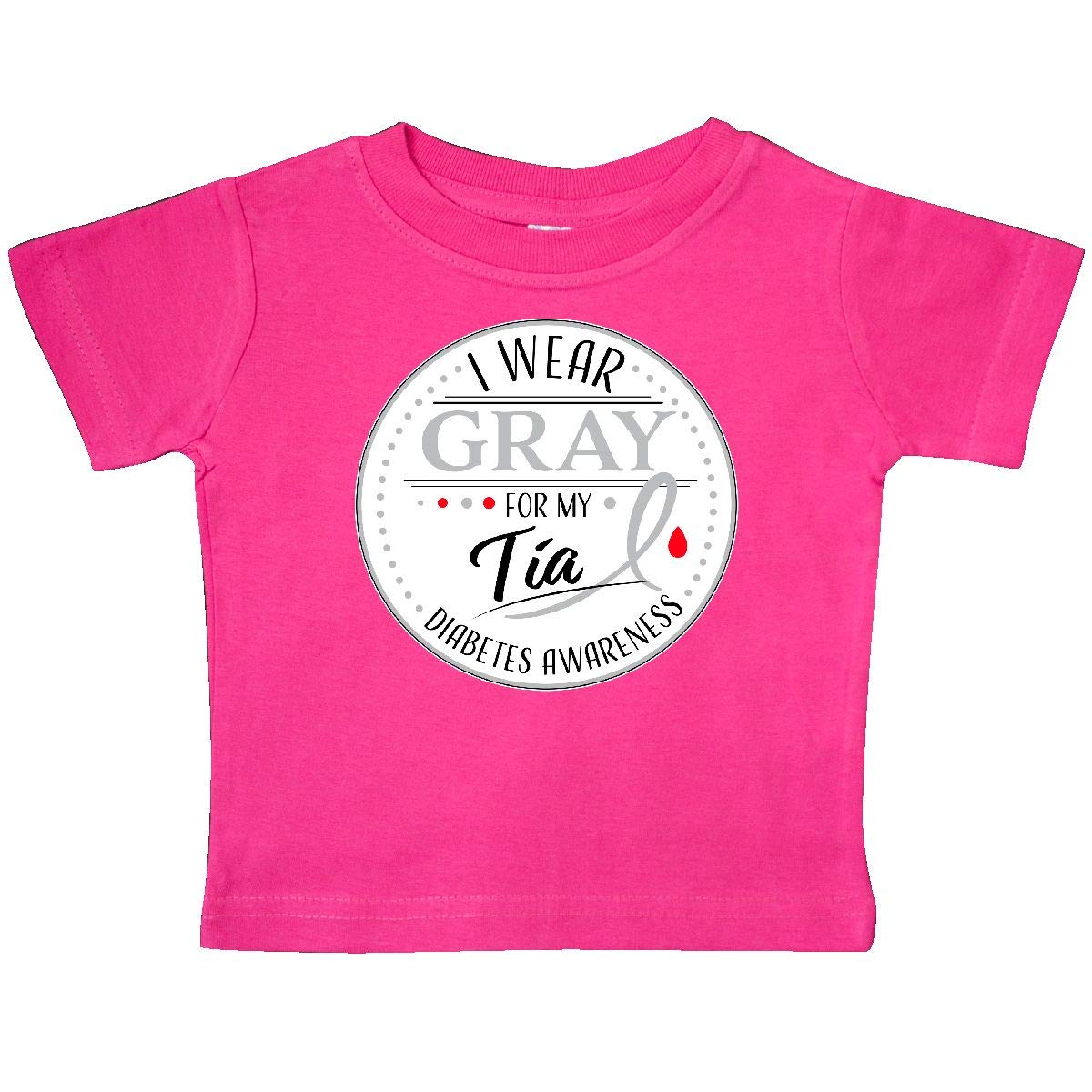Diabetes Awareness Baby T-Shirt inktastic I Wear Gray for My T/ía