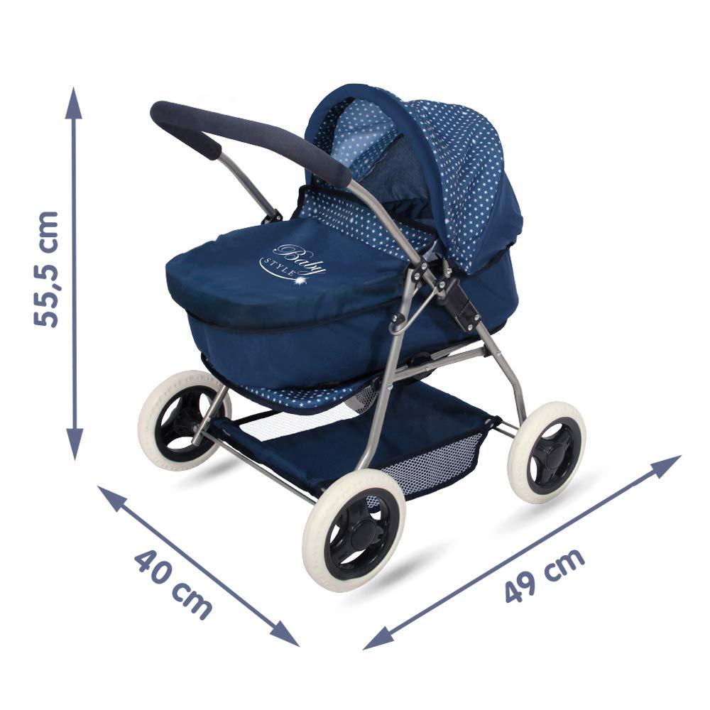 ColorBaby Coche 3 en 1 Baby Style, Color Azul (44919)