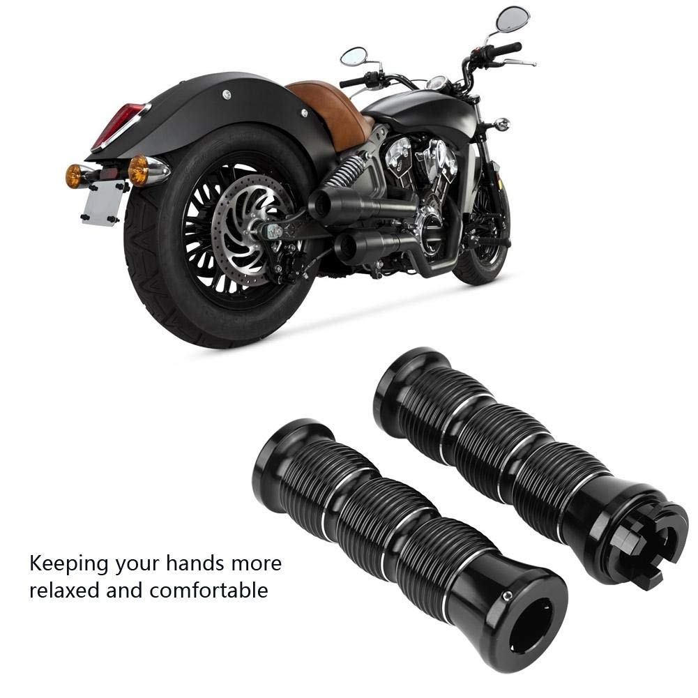 Handlebar Grips 2pcs Aluminum Alloy Motorcycle CNC Handlebars//Hand Grips for Indian Scout 2015-2019