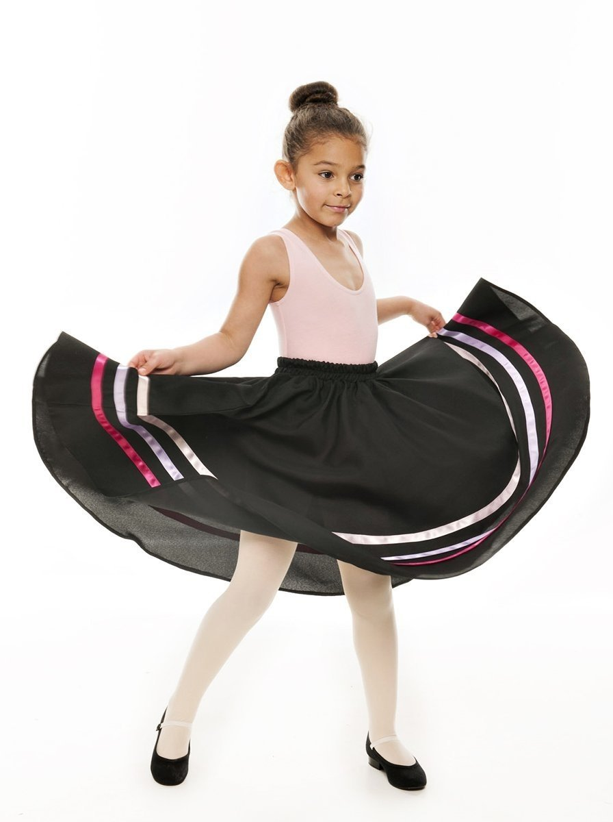 Girls Pink /& Lilac Ribbon RAD Character Skirt Dance Ballet By Katz Dancewear