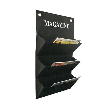 MORE DESIGN MAGAZINE Porte Revue Mural Tissu Noir: Amazon.fr ...