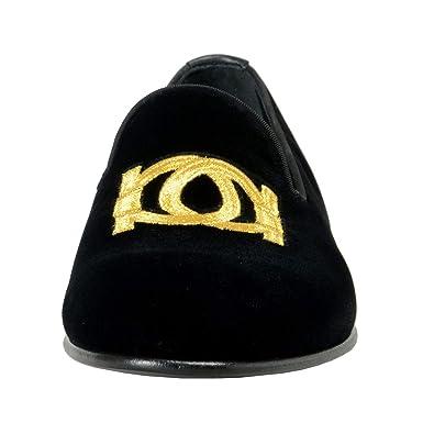 770b6126aaa Amazon.com  Salvatore Ferragamo Men s Manhattan Velour Loafers Shoes US 7.5  EU 40.5 EE Black  Shoes