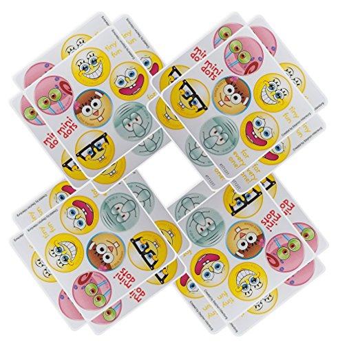 Spongebob Squarepants Party Favors - 20 sheets 120 Count (Party Birthday Squarepants Spongebob Invitations)