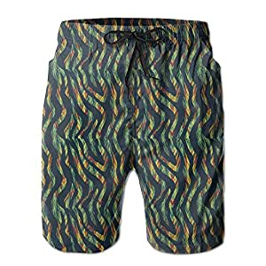Colorful Animal Snake Skin Men's Summer Watershorts M