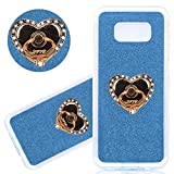 xbox 360 blue ring of light - ISAKEN Full Body Case for Samsung Galaxy S8 Plus [Ring Stand Holder] Anti-scratch Front & Back Protection Cover, Luxury Crystal Rhinestone TPU Case with 360 Rotating Ring Stand Holder, Blue #b
