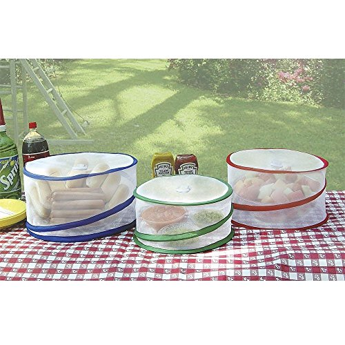 New Set of 3 Pop Up Outdoor Food Covers Protect Your Picnic Free Standard Shipping!