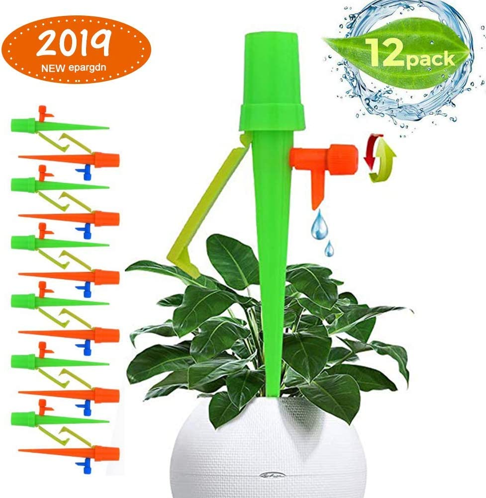 Self Plant Waterer with Anti-Down Bracket Suitable for All Bottle akadomi 13PCS Plant Watering Devices with Slow Release Control Valve Switch Self Watering Spikes Irrigation Garden Watering Bulbs
