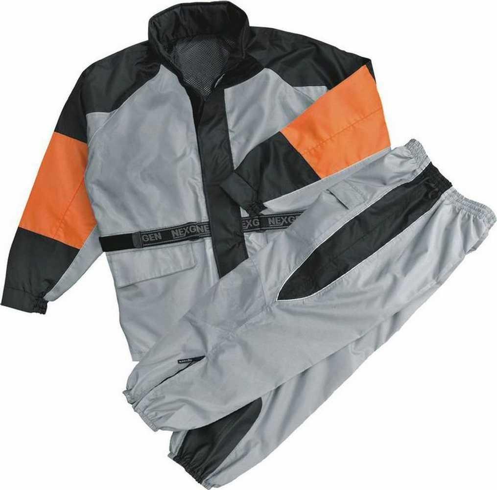 NexGen Men's Rain Suit (Black/Silver, 4X-Large)