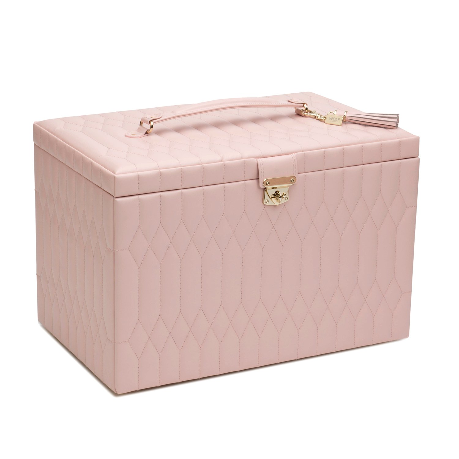 WOLF 329515 Caroline Extra Large Jewelry Case, Rose Quartz