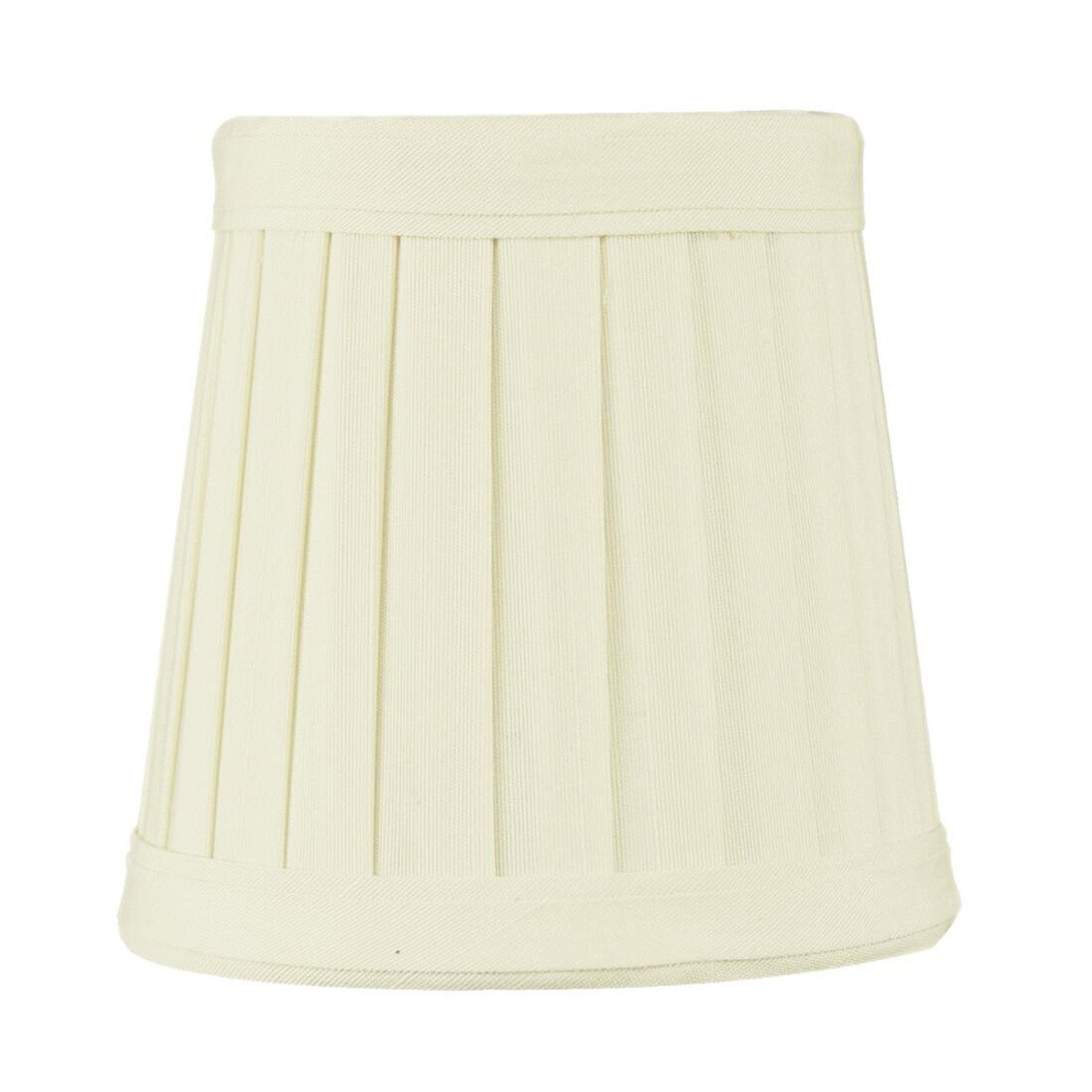 3x4x4 Crisp Linen Pleated Clip-on Candelabra Lampshade By Home Concept - Perfect for chandeliers, foyer lights, and wall sconces - Small, Egg Shell