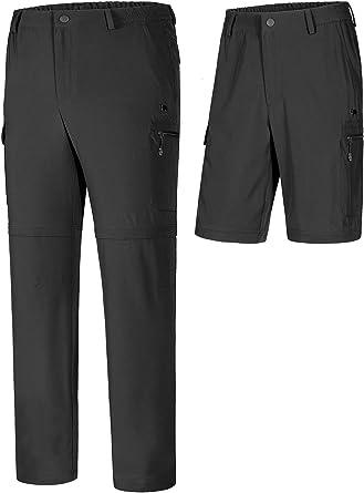 CAMEL CROWN Pantalones de Senderismo Hombres Convertibles Pantalón Cargo Cortos Secado Rápido con 6 Bolsillos Transpirables para Montaña Verano ...