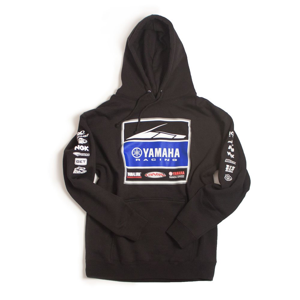 Factory Effex Unisex-Adult Yamaha Racing Team Hooded Sweatshirt (Black, Medium), 1 Pack by Factory Effex (Image #1)