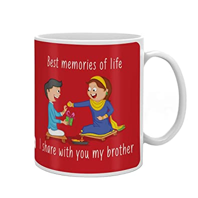 Indi ts Bro Sis Sweet Moment Quote Printed Gift Set Mug
