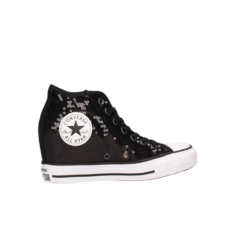 CONVERSE C.T. All Weiß Star Lux Mid Turnschuhe zeppa TESSUTO BLACK Weiß All NERO 556782CMulticolore d2d7ad