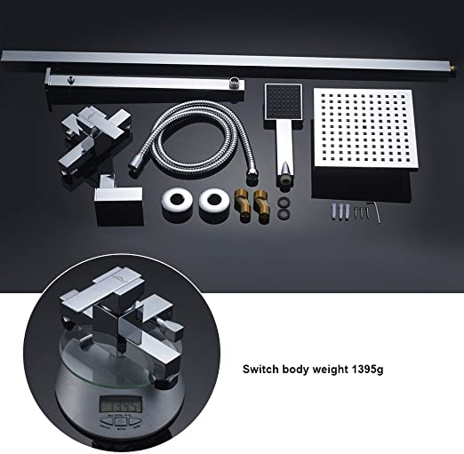 Auralum Faucet Shower Set Sistema de ducha Cabezal de ducha y ...