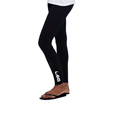 d9a3dcb7df Amazon.com: Gamma Phi Beta Leggings Full Length with White Stitched Greek  Letters (Gamma Phi Beta Clothing): Clothing