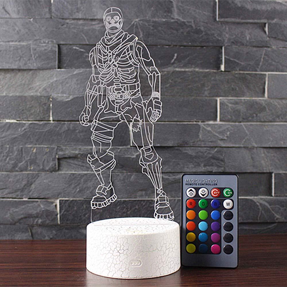 3D L/ámpara de Escritorio NHSUNRAY 7 colores LED Touch l/ámpara de mesa con control remoto para ni/ños cumplea/ños regalo de San Valent/ín de Navidad Alpaca