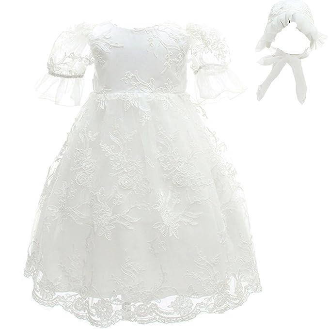 AHAHA Vestido de Bautizo de Bebé de Para Niñas Vestidos de Fiesta de Cumpleaños Para Bebés