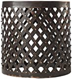 Shiva Lattice Side Table, 18''Hx17'' ROUND, BRONZE
