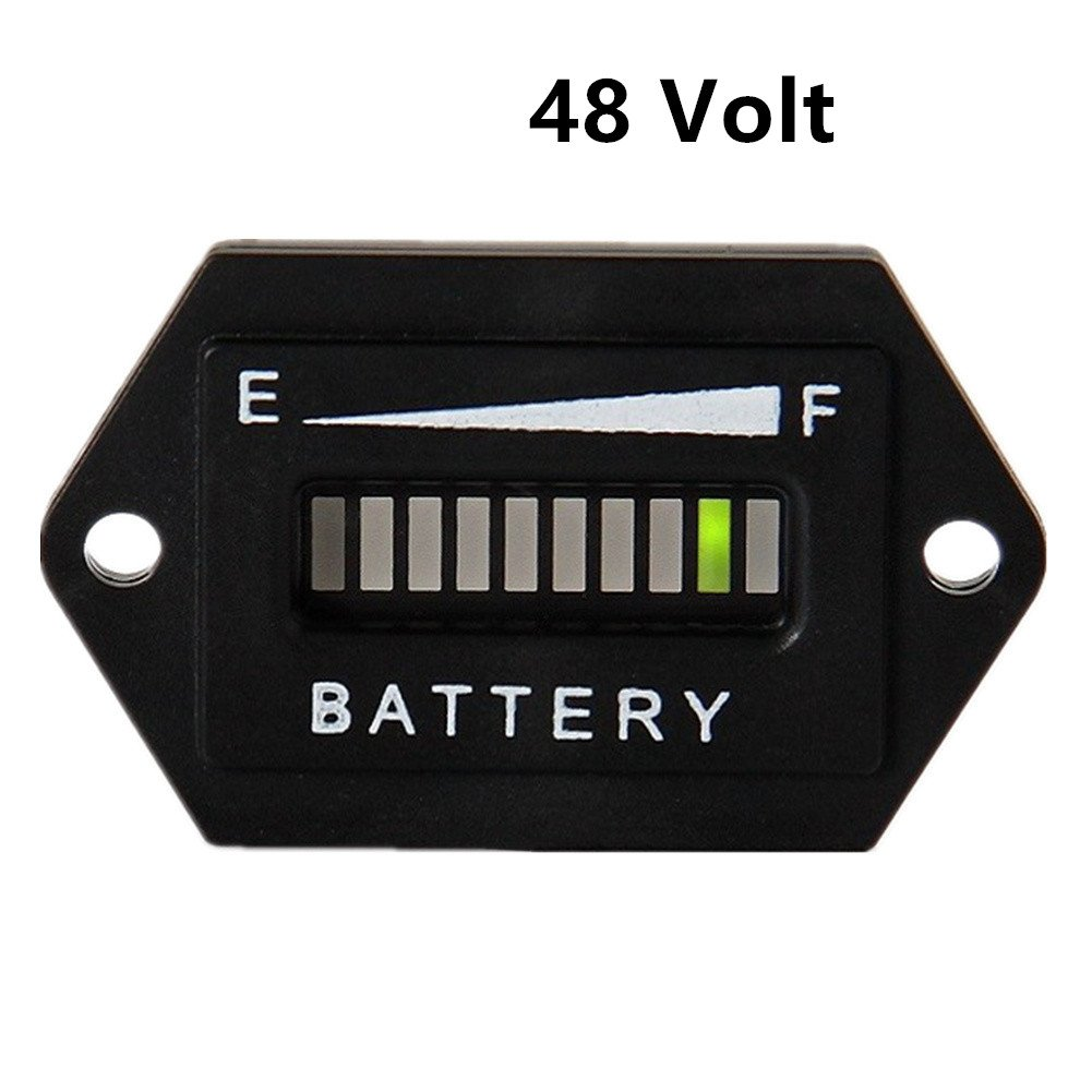 AIMILAR Golf Cart Battery Meter Battery Charge Discharge Status Indicator Gauge for Lead-acid Battery Club Car 48V (48V)