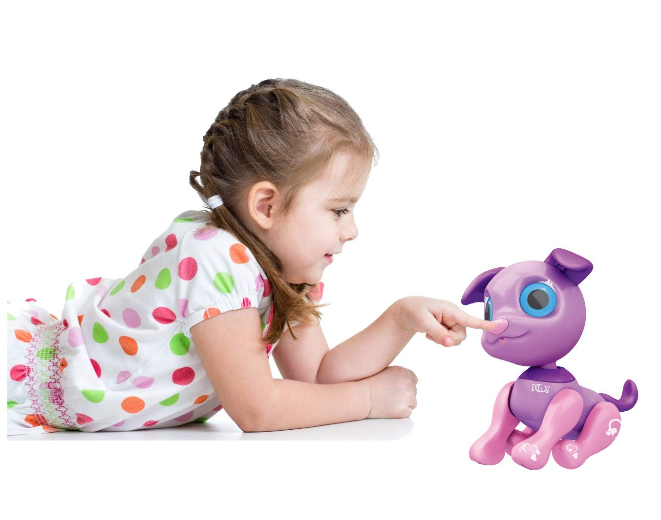 Liberty Imports My Best Friend Interactive Smart Puppy | Kids Electronic Pet Toy Robot Dog | Ideal Gift Idea for Girls (Purple) by Liberty Imports (Image #5)