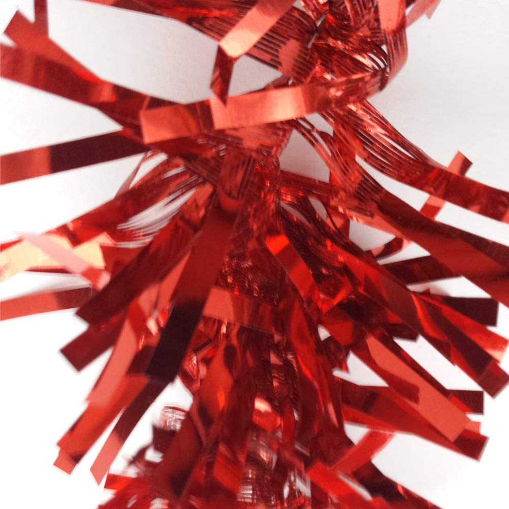 Schone Products 2m Red Chunky Tinsel Strand Decorate Christmas Tree Home Office THE SPIRIT OF XMAS UK