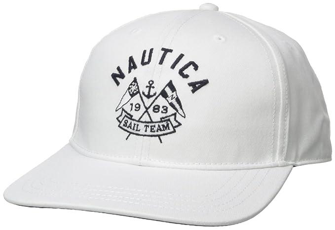 Nautica Hombres Gorra de béisbol - Blanco - Talla única: Amazon.es: Ropa y accesorios