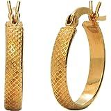 Velvetcase Best At 22k (916) Yellow Gold Hoop Earrings